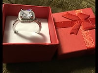 18kt white gold paved over solid silver 5A,cz,1ct,size 8 available  Brampton, L6V 3X9