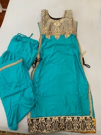 Teal indian suit