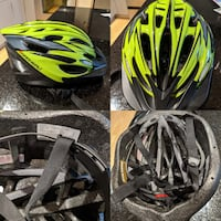 Bicycle safety helmet adjustable sizing bought at a spo