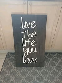 Live the life you love sign.   Innisfil, L9S 3N4