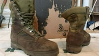 pair of brown Timberland work boots Maple Ridge, V4R 0A3