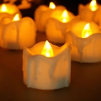 Set of 12 Amber Yellow Flickering Flameless Candle Severn, 21144