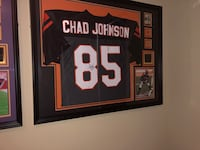 Autographed and Framed Chad Johnson Jersey. Comes with COA. No low ballers or Trades. Tracy, 95377