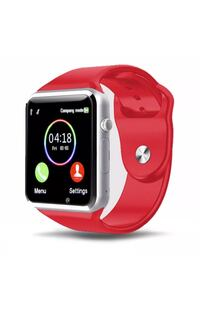 New red smart watch work with Samsung iPhone and lg
