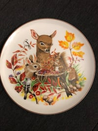 Beautiful collector plate - vibrant colours, stamped Japan Toronto, M2J 2C4