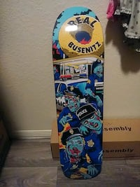 blue, yellow, and black skateboard Mesa, 85203