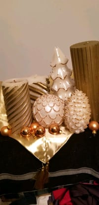 6candles,tablerunner,ornaments  Moss Point