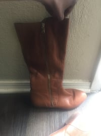 pair of brown leather boots Arlington, 76010