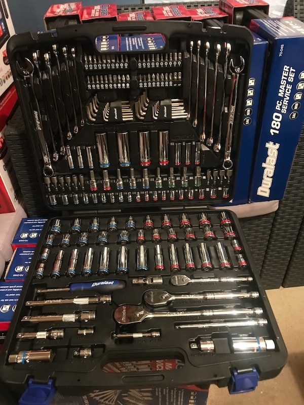 used brand new. ( sealed ) lifetime warranty 180pc. duralast tool ...