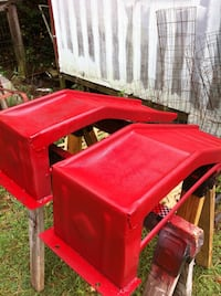Red Stell  Car /Truck Saddle Boxes new