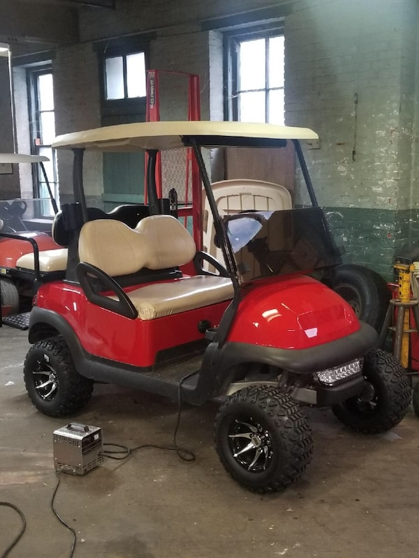 Used Lifted 4 Passenger Club Car Precedent Electric Golf Cart For