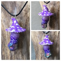 Purple mushroom necklace Kelowna, V1Y 5Y3