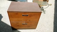 brown wooden 2-drawer chest Mississauga, L5E 2N9