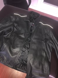 Leather pants and jacket for bike. Size M to L
