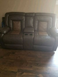 brown leather 2-seat sofa Woodbridge, 22193
