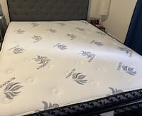 Queen size bed with queen size mattress