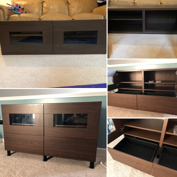 IKEA cabinets (was used as an entertainment center)