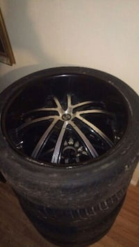22 in universal 5 lug rims and tires Tulsa, 74127