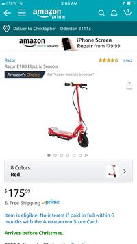 Red and black razor electric kick scooter Odenton, 21113