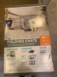 Folding 2 door dog crate