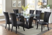 Black Dining Table Set