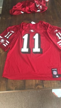 red and white NFL jersey Merced, 95341