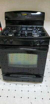black 4-burner gas range oven San Antonio, 78210