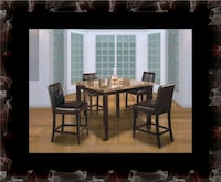 Marble tall table with 4 leather chairs Alexandria, 22305