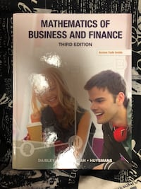 Mathematics of Business and Finance 3rd edition book