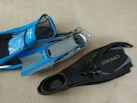fins and snorkel