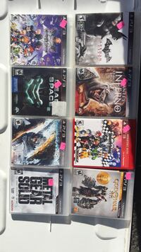 six assorted PS3 game cases Ogdensburg, 07439