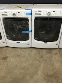 white front-load clothes washer and dryer set St. Charles, 63301
