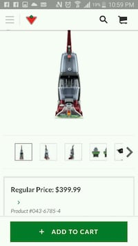gray and red upright vacuum cleaner screenshot