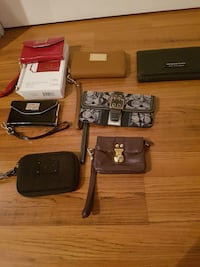 assorted color leather wristlet lot