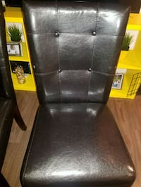 black leather padded rolling chair Hamilton, L8N 3T2
