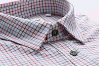 white and blue plaid Men Shirt Meadowbank, 2114