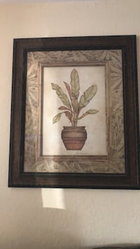 brown wooden framed painting of flowers Milpitas, 95035