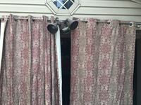 Curtain with rod and hanging parts. 30$ obo Dearborn, 48126