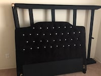 black and white leather bed headboard Columbia, 21045