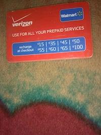 Verizon preaid card bought wrong one so it has 30  Lubbock, 79404