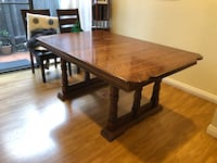 Real wood antique table Costa Mesa, 92627