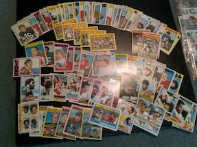 70s football stars and rookies lot