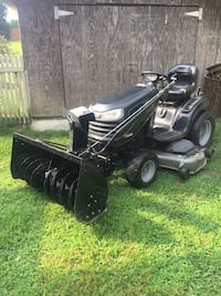 """sears ride on mower DGS6500 54"""" deck $1000 or snowblower attachment$800 both for $1600 have tire chains all works great East Moriches, 11940"""