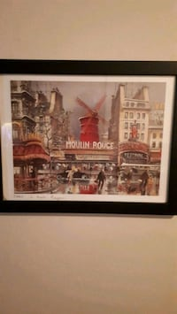 brown wooden framed painting of building London, N5W 1W8