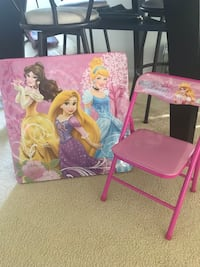Pink and purple disney princess themed table & chair set Fort Lauderdale, 33312