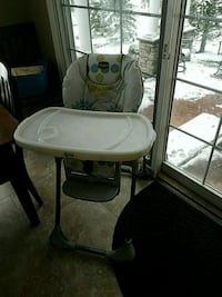 baby's white and gray high chair Orchard Park, 14127