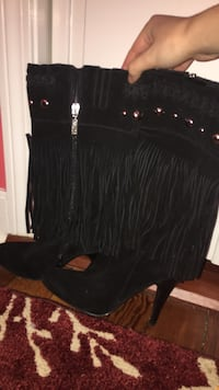 Guess (never been worn) black fringe boots Watertown, 02472