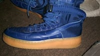 blue-and-white Nike high top sneakers Columbus, 43224