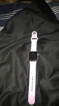 silver aluminum case Apple Watch with white sports band Manassas, 20111