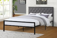 SPL Full Grey Platform Bed, 7577 Santa Fe Springs